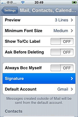 iPhone / iPad email signature installation - image 8