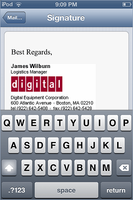 iPhone / iPad email signature installation - image 10