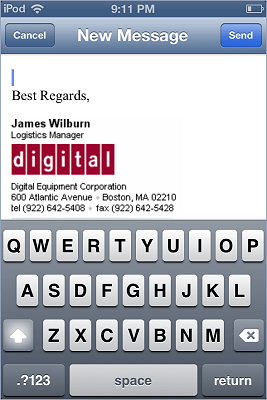 iPhone / iPad email signature installation - image 11