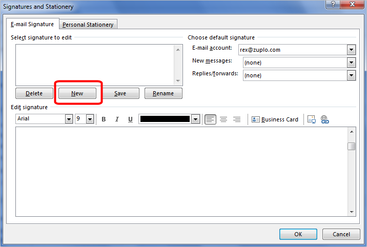 Business Emal Signatures - Outlook 2013 Install - 7