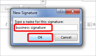Business Emal Signatures - Outlook 2013 Install - 8