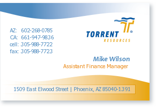 Mike Wilson, TORRENT RESOURCES, Inc., (602) 268-0785