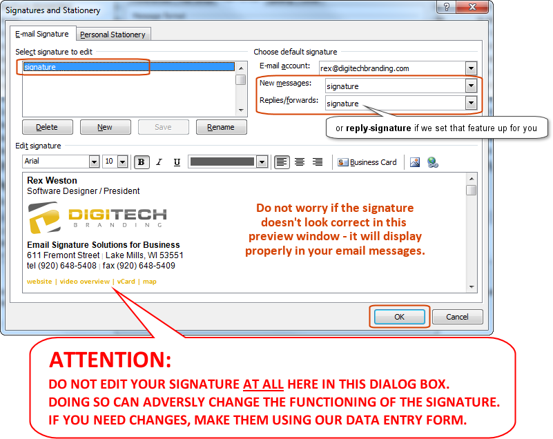 Outlook Email Signature Installation Instructions